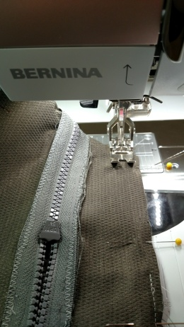 Then I picked up my needle and continued sewing
